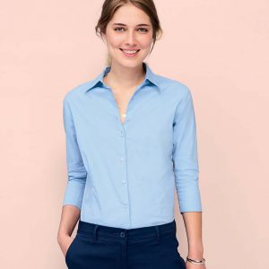 SOLS Ladies Effect 3-4 Sleeve Fitted Shirt 17010