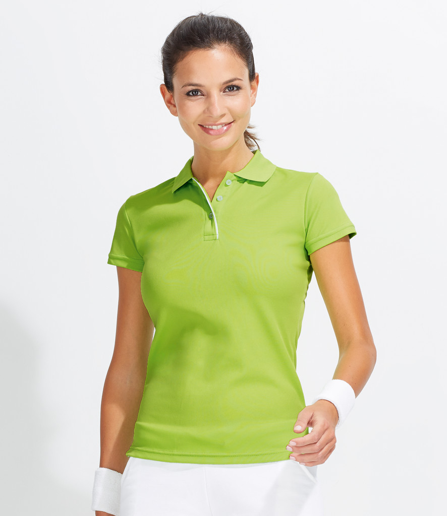 01179 sol s ladies performer pique polo shirt for Ladies pique polo shirts
