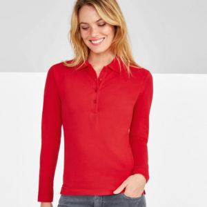 SOLS Ladies Podium Long Sleeve Cotton Pique Polo Shirt 11317