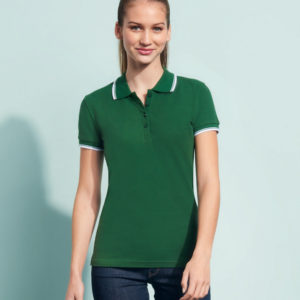 SOLS Ladies Practice Tipped Cotton Pique Polo Shirt 11366