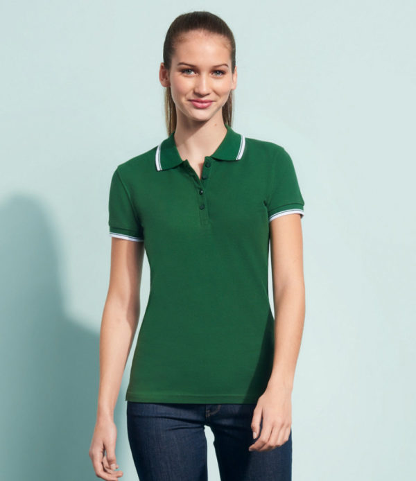 SOLS Ladies Practice Tipped Cotton Pique Polo Shirt 11366