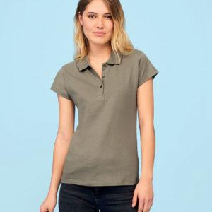 SOLS Ladies Prescott Cotton Jersey Polo Shirt 11376