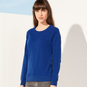 SOLS Ladies Studio French Terry Raglan Sweatshirt Indigo