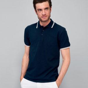 SOLS Practice Tipped Cotton Pique Polo Shirt 11365