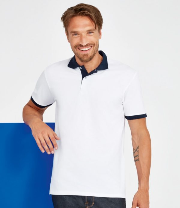 SOLS Prince Contrast Cotton Pique Polo Shirt 11369