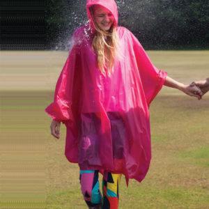 Splashmacs Rain Poncho Fuschia