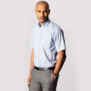 UC702 Mens Pinpoint Oxford Half Sleeve Shirt