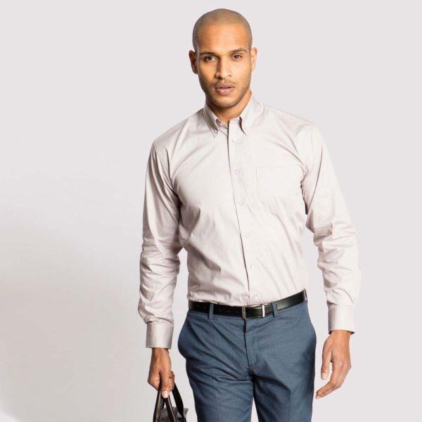 Uneek Mens Pinpoint Oxford Long Sleeve Shirt UC701