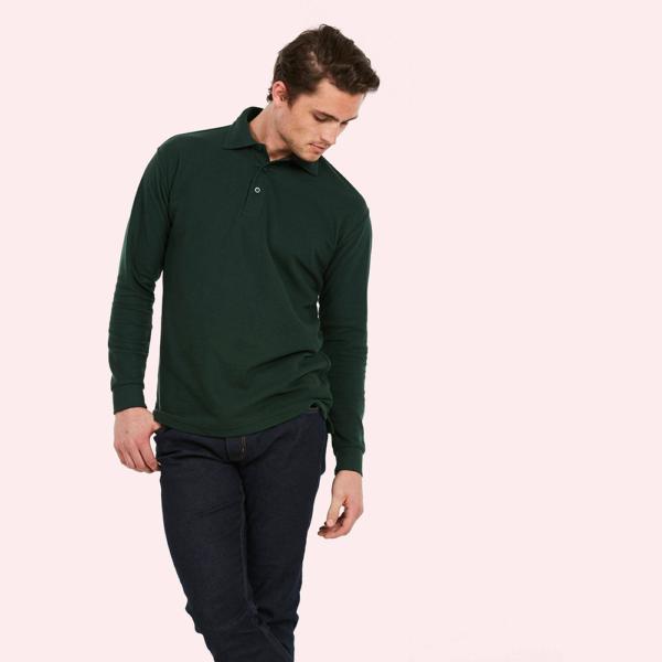 Uneek Unisex Long Sleeve Polo Shirt UC113