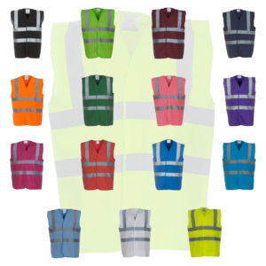 Yoko Hi-Vis Two Band and Braces Waistcoat YK102