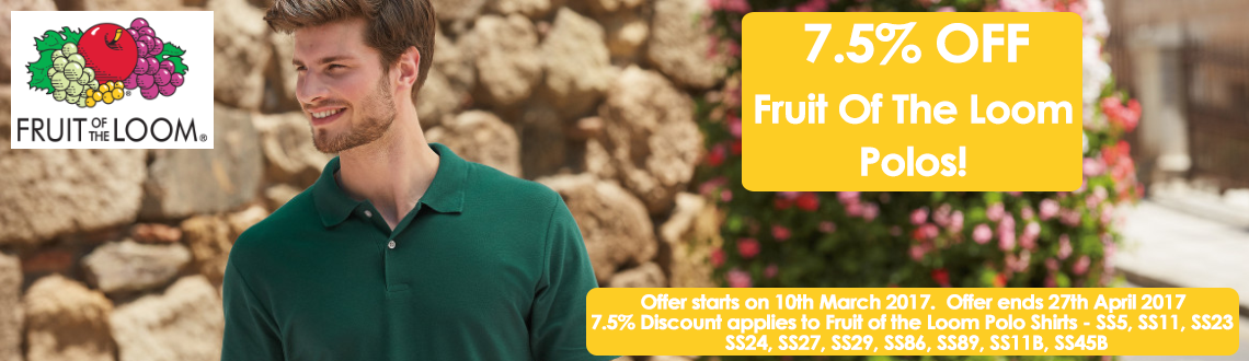 Fruit of the Loom Polo Offer