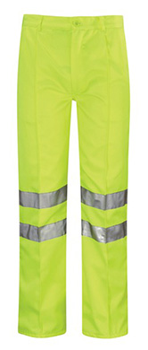 Omega High Vis Poly-Cotton Work Trousers