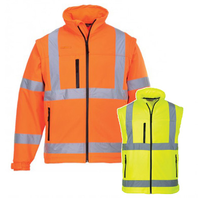 Portwest Hi-Vis Softshell Jacket S428