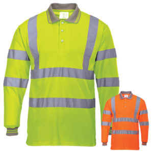 Portwest Hi-Vis Long Sleeved Polo Shirt S277