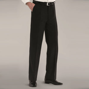 Disley Mens Wool Rich Single Pleat Trousers