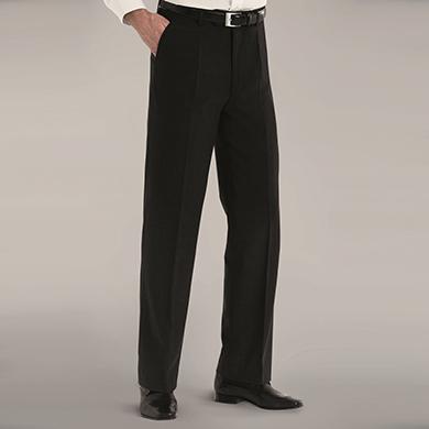 Disley Mens Wool Rich Single Pleat Trousers