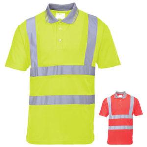 Portwest Hi-Vis Short Sleeved Polo Shirt S477