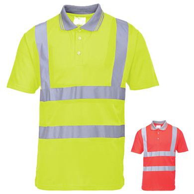 Portwest Hi-Vis Short Sleeved Polo Shirt S477